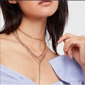 Free People Old Flames🧡 Multi Layered Necklace